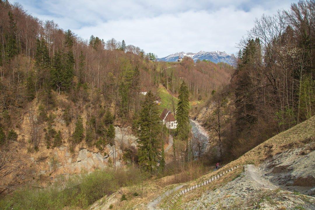 Wanderung Kerns Ranft Flüeli - Sicht Ranft Kapelle