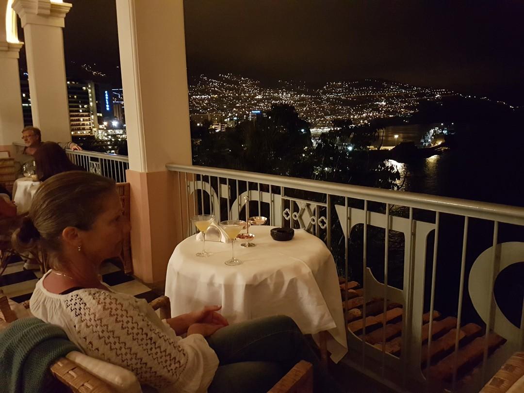 Reids Palace Balkon Blick auf Funchal Madeira