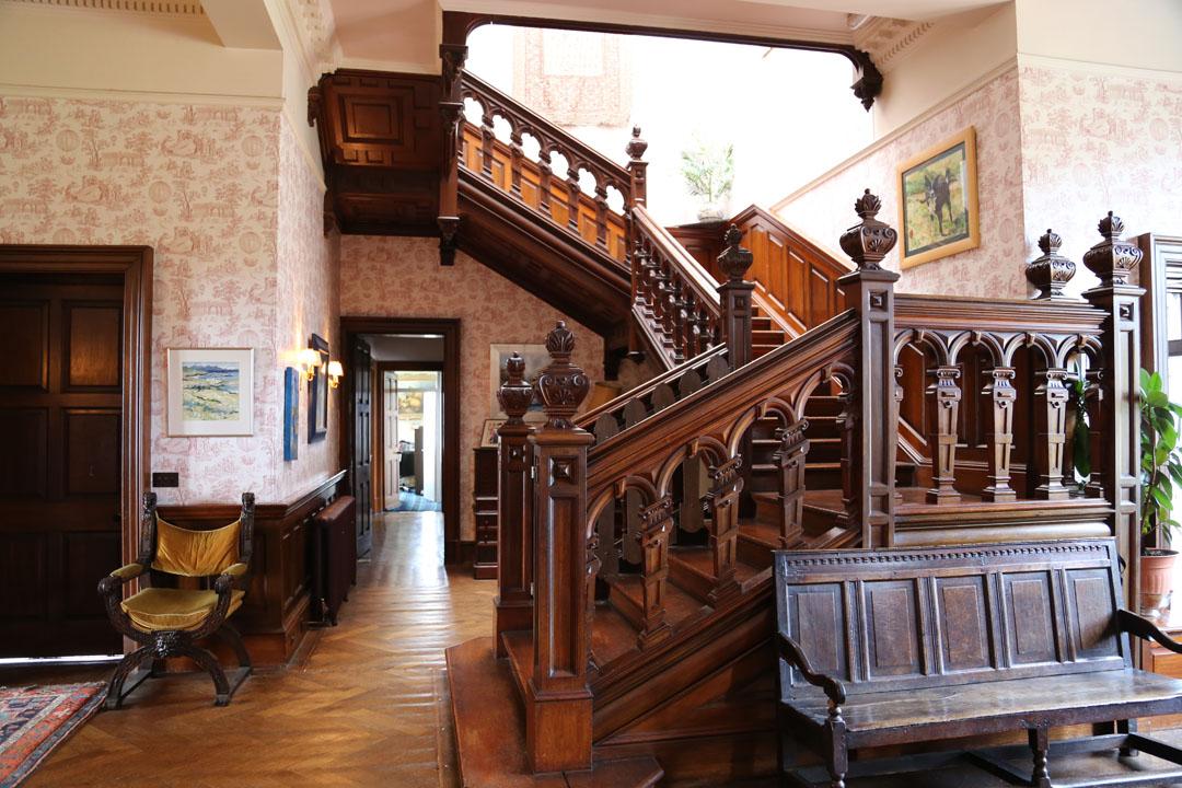 Treppe zu den Zimmern Glengorme Castel Isle of Mull
