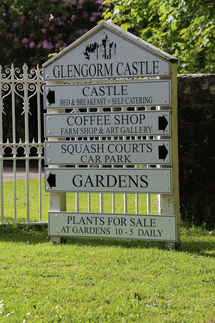 Sign to Glencorm Castle, Isle of Mull