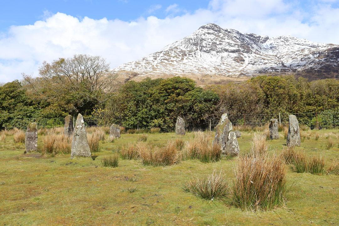 Steinkreis bei Loch Buie Insel Mull Schottland