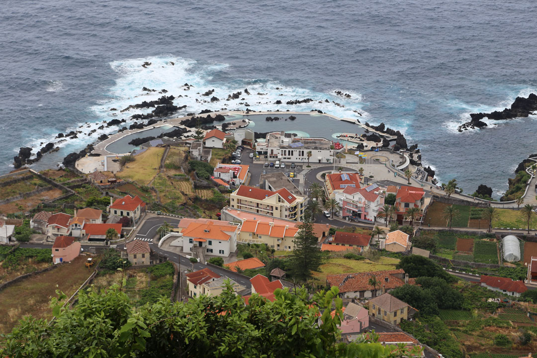 Blick auf Porto Moniz Madeira