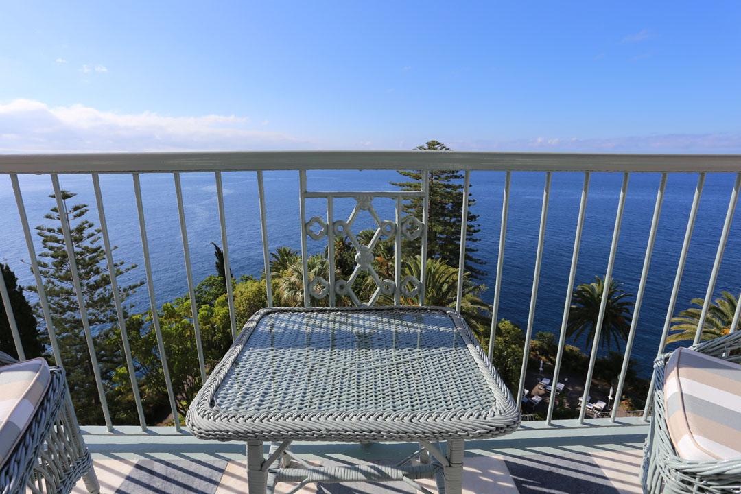 Reids Palace Zimmer Sicht auf das Meer Funchal Madeira