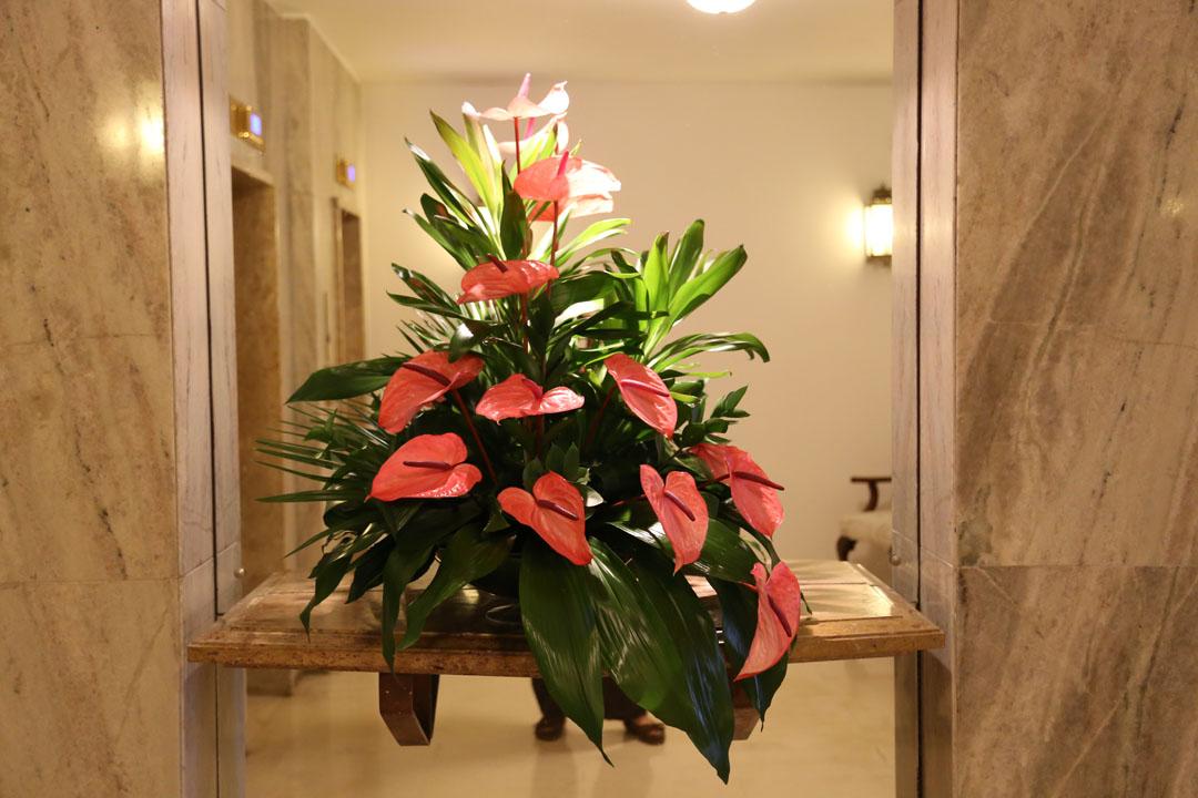 Reids Palace Innenraum Blumenschmuck Funchal Madeira