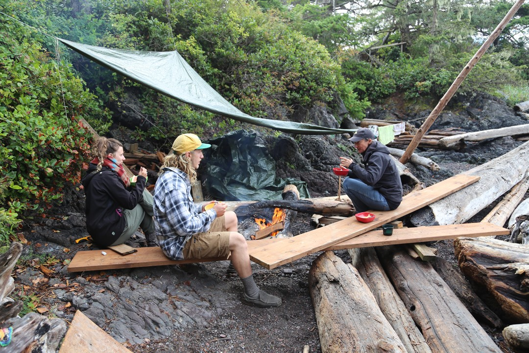 Outdoor Frühstück, Sophie Island, Seakayaktour, Vancouver Island, Kanada