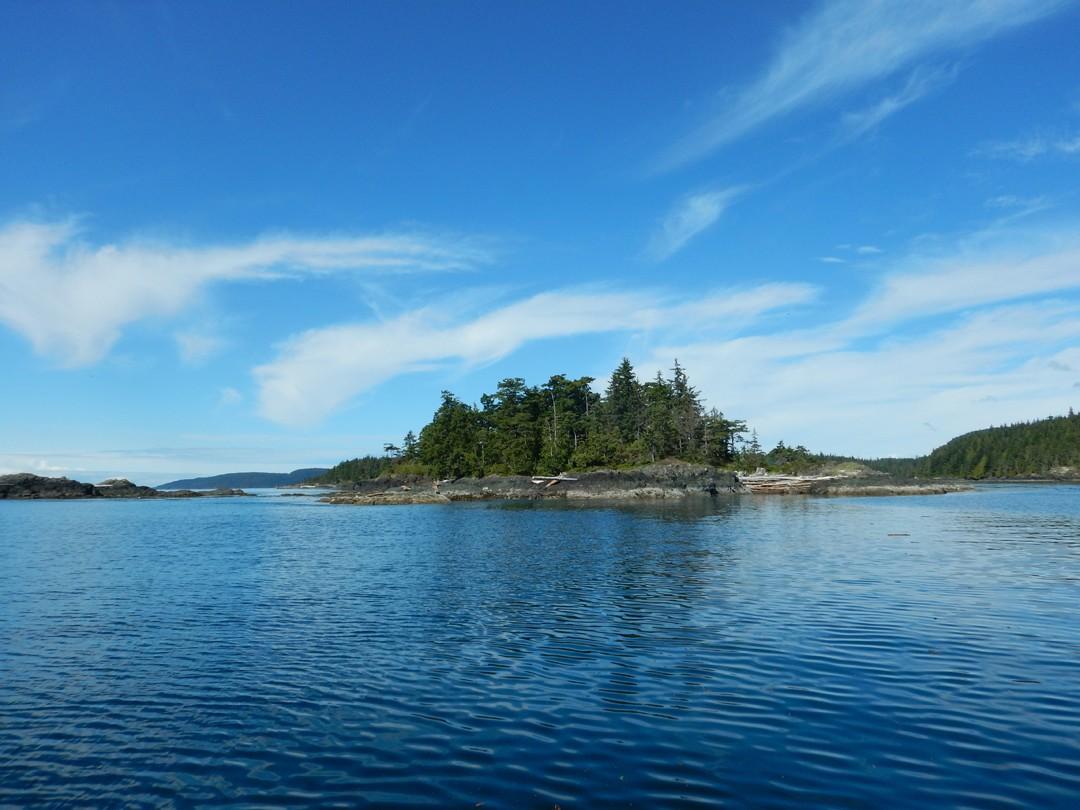 Sophia Island , Kayaktour, Vancouver Island, Kanada