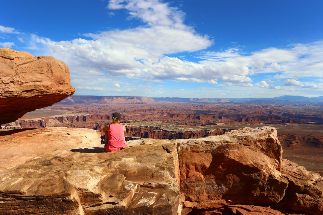 Grand View Point Overlook Canyonlands National Park Utha USA