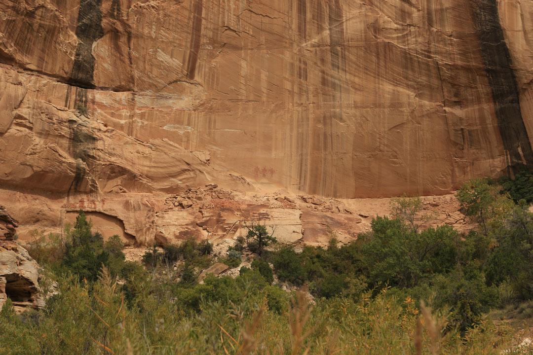 Calf Creek Falls Anasazi Felszeichnungen Utha USA