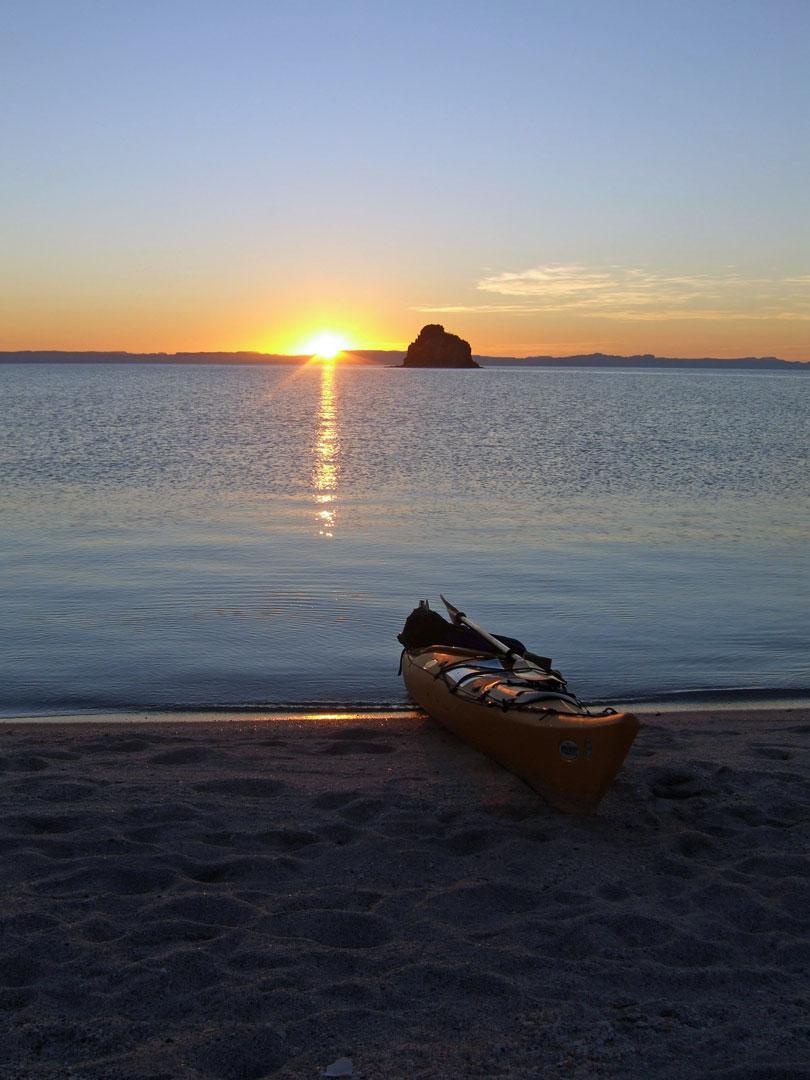 Abendstimmung Sea Kayak Isla Espíritu Santo Baja California Sur Mexico
