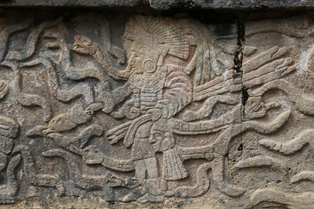 Relief Chichén Itzá Yucatan Mexico