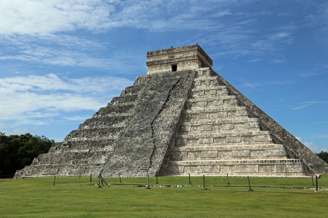 Maya Ruinen Chichén Itzá El Castel Yucatan Mexico