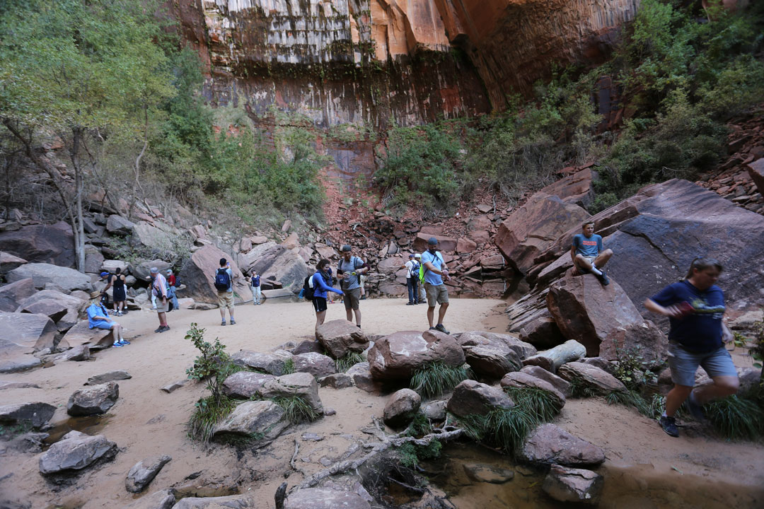 Kayenta Trail Upper Pool Zion National Park Utha USA