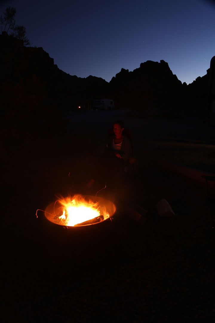 Campground Valley of Fire Park Nevada USA