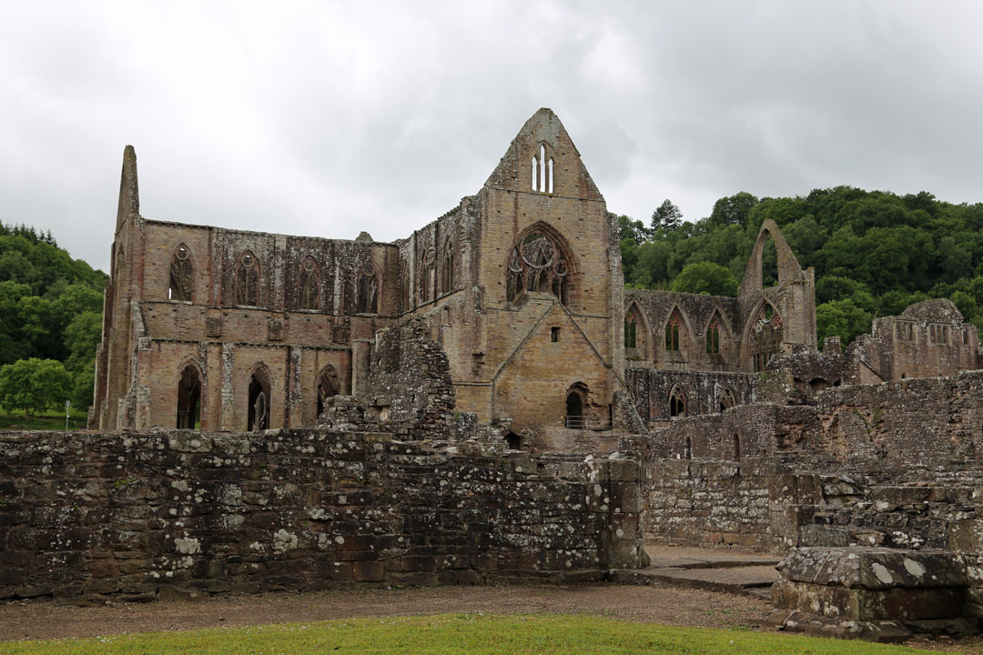 Tintern Abbey im Wye Valley Wales