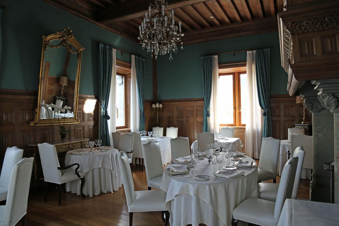 Speiseraum Hotel Castillo de Arteaga Baskenland Spanien