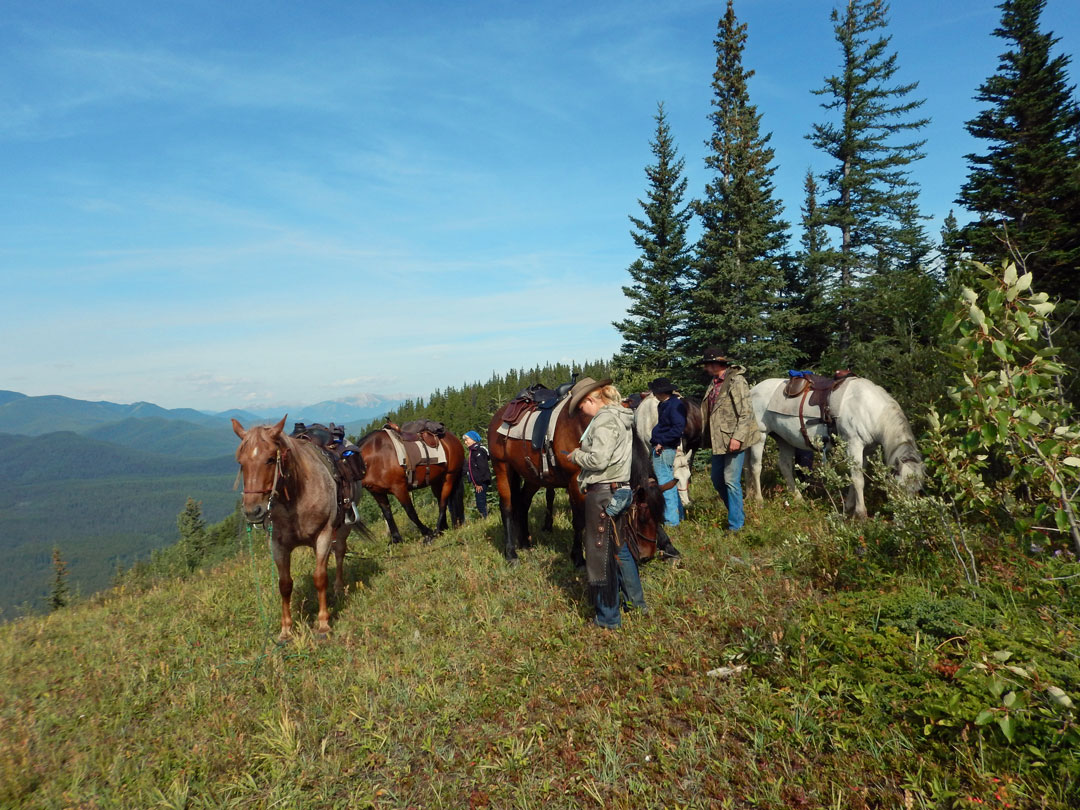 Paradise Ridge Reiten Rocky Mountains Kanada