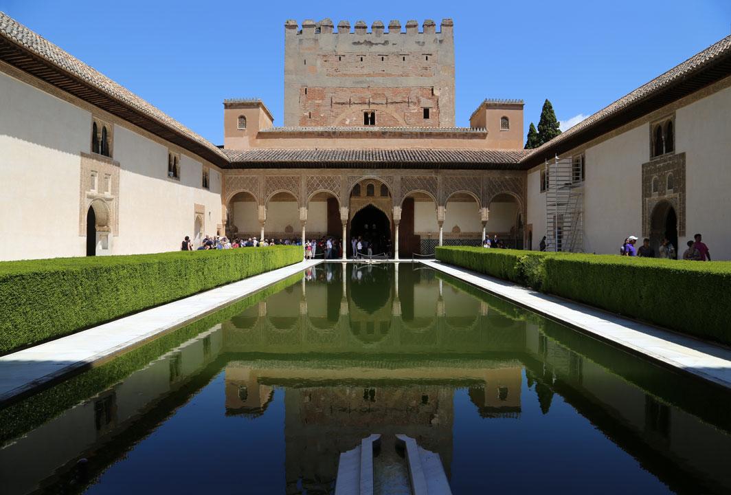Alhambra Sommergarten Granada Spanien