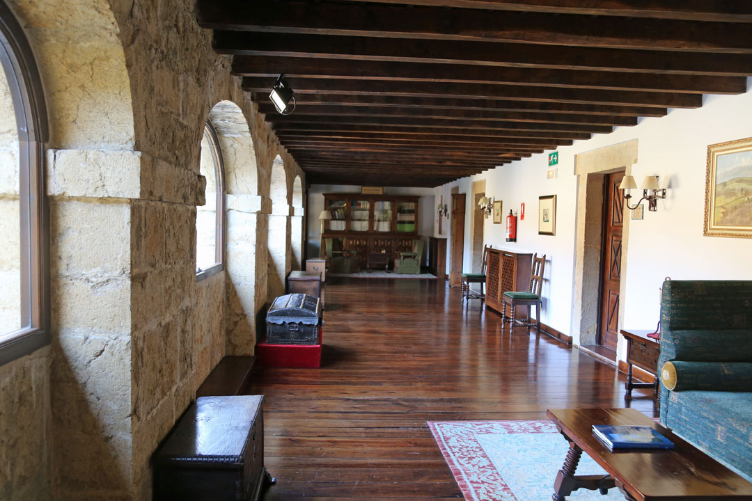 Aufgang Parador Cangas de Onis Asturien Spanien