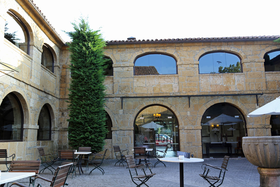 Innenhof Parador Cangas de Onis Asturien Spanien