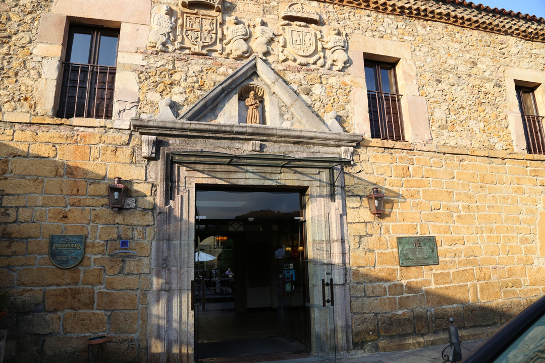 Eingang Parador Cangas de Onis Asturien Spanien