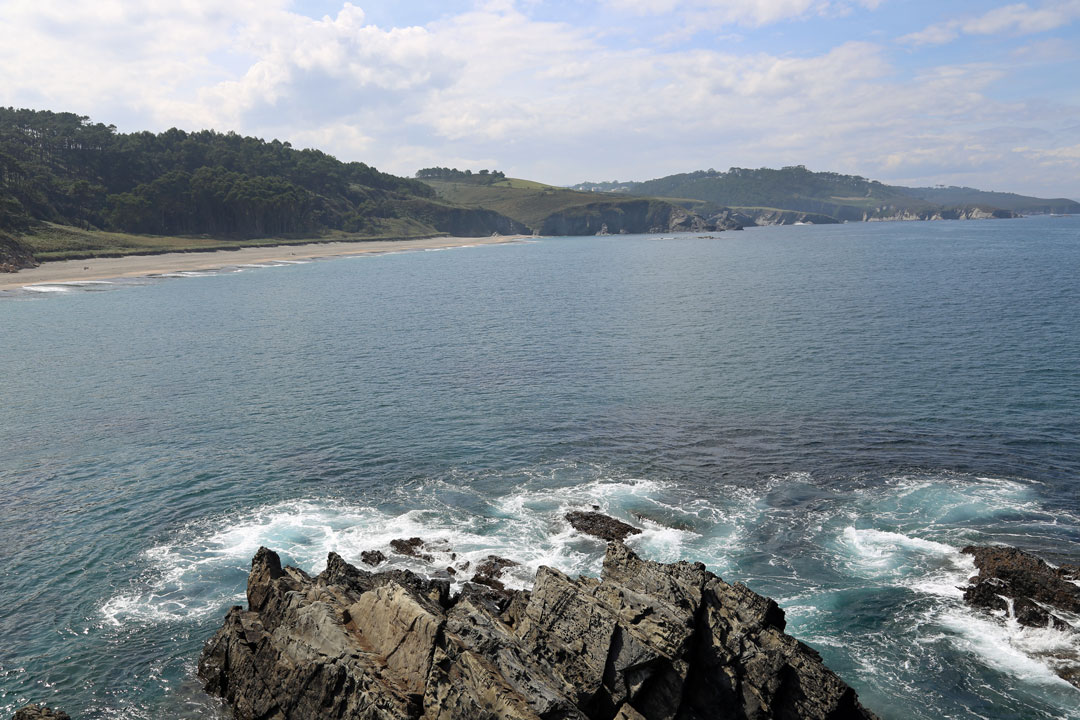 Landschaft Luarca nach Ribadeo Asturien Spanien