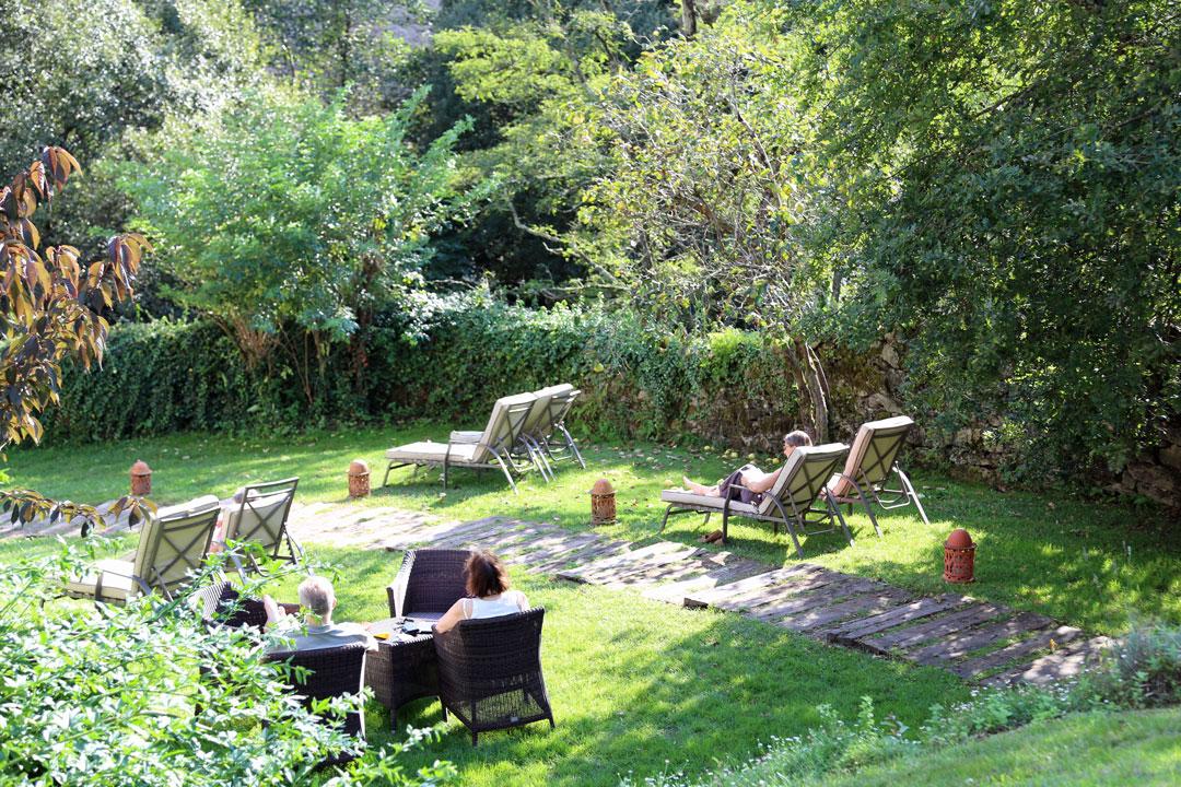 Garten Hotel A Quinta da Auga Santiago de Compostela Galizien Spanien