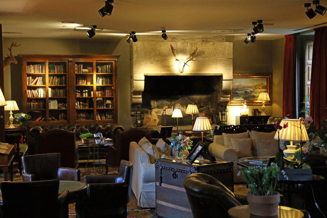 Bibliothek Hotel A Quinta da Auga Santiago de Compostela Galizien Spanien