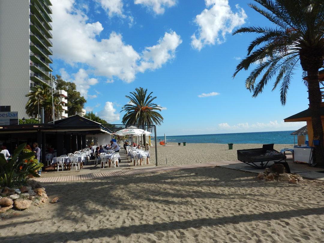 Strand Marbella Malaga Spanien