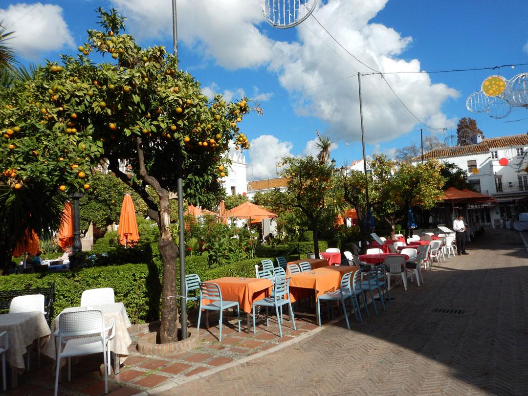 Plaza de Naranjos Marbella Malaga Spanien