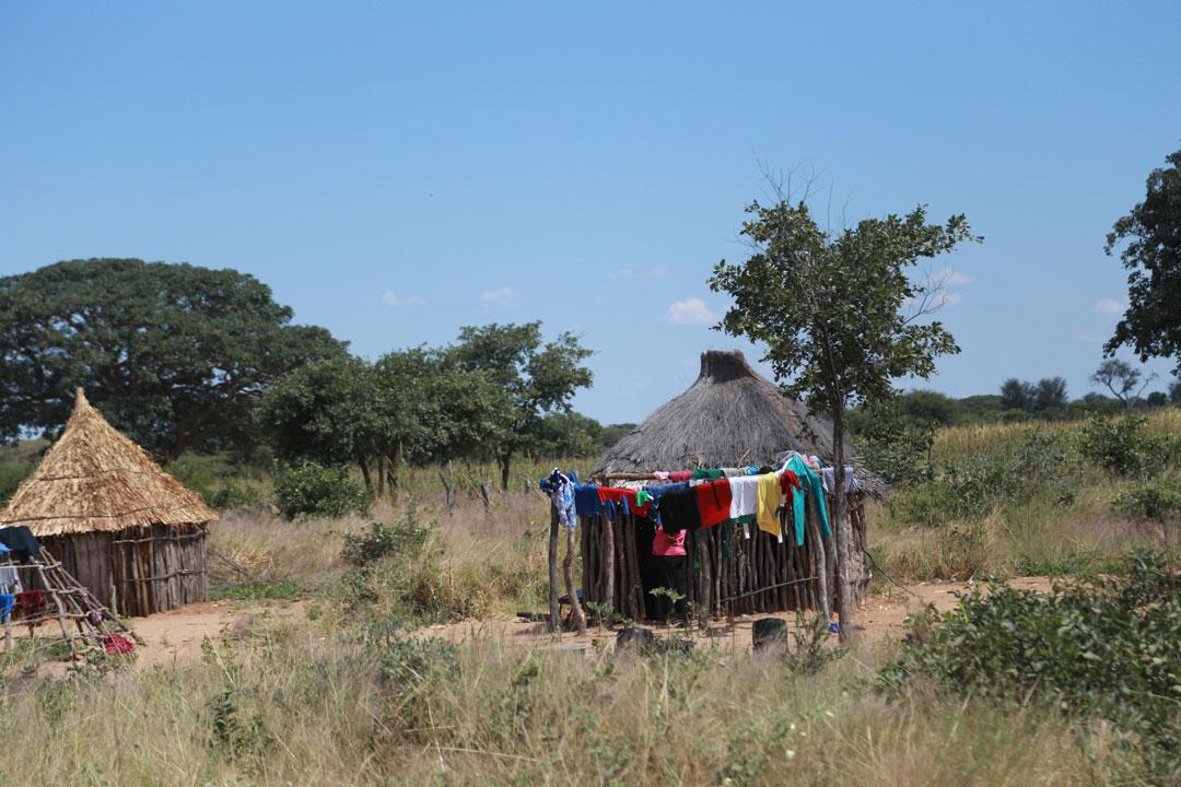 Dorf Hütte Namibia
