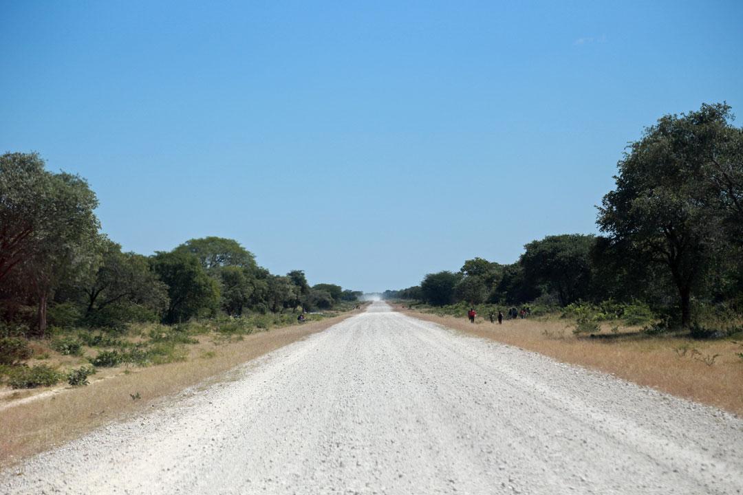 Menschen auf der Strasse Namibia