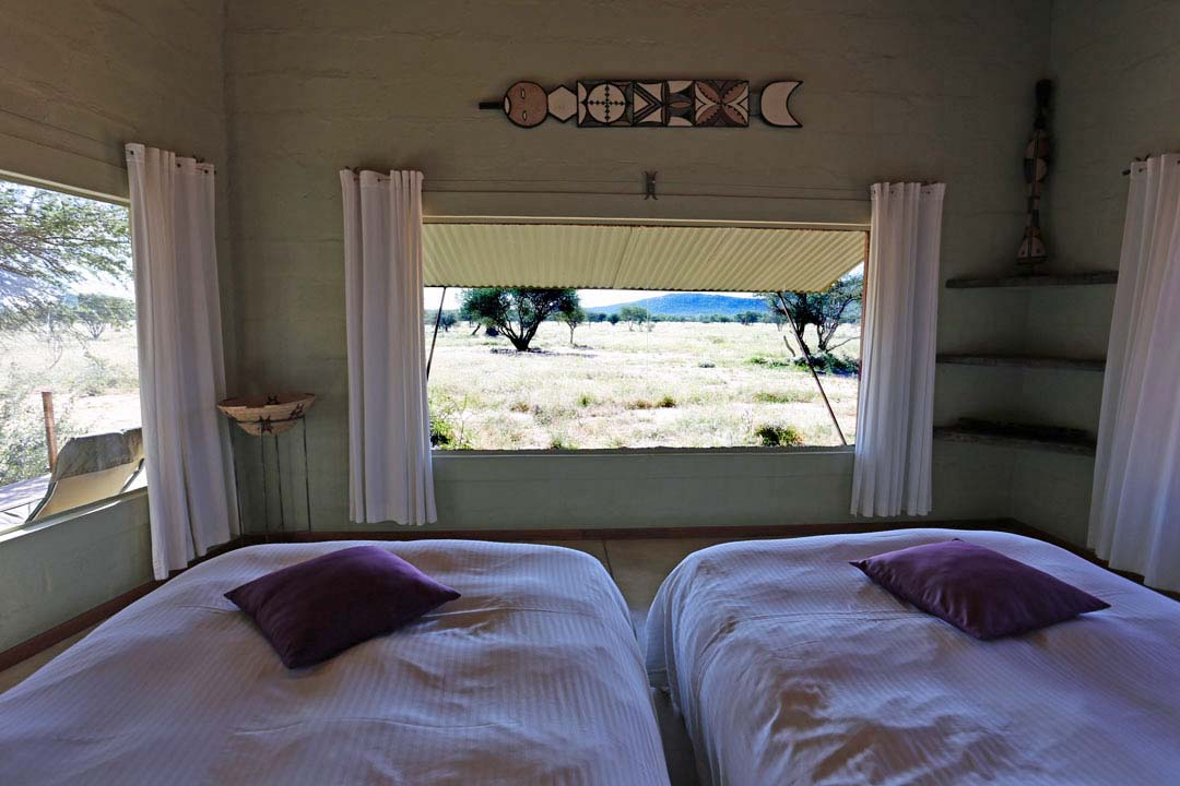 Okonjima Lodge Zimmer Aussicht Namibia