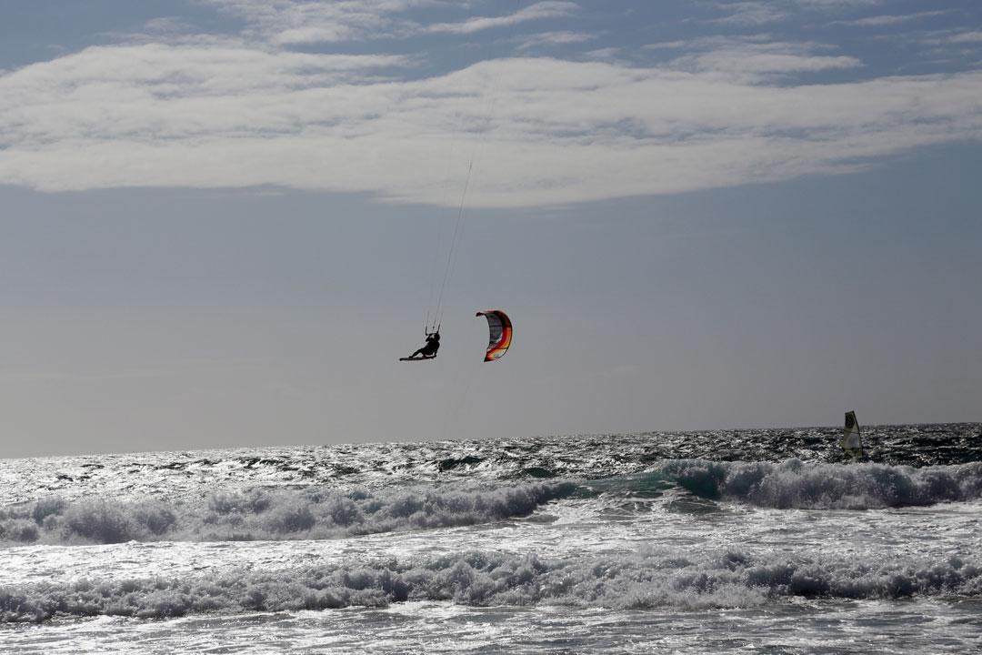 Kitesurfer Strand Guincho Cascais Portugal