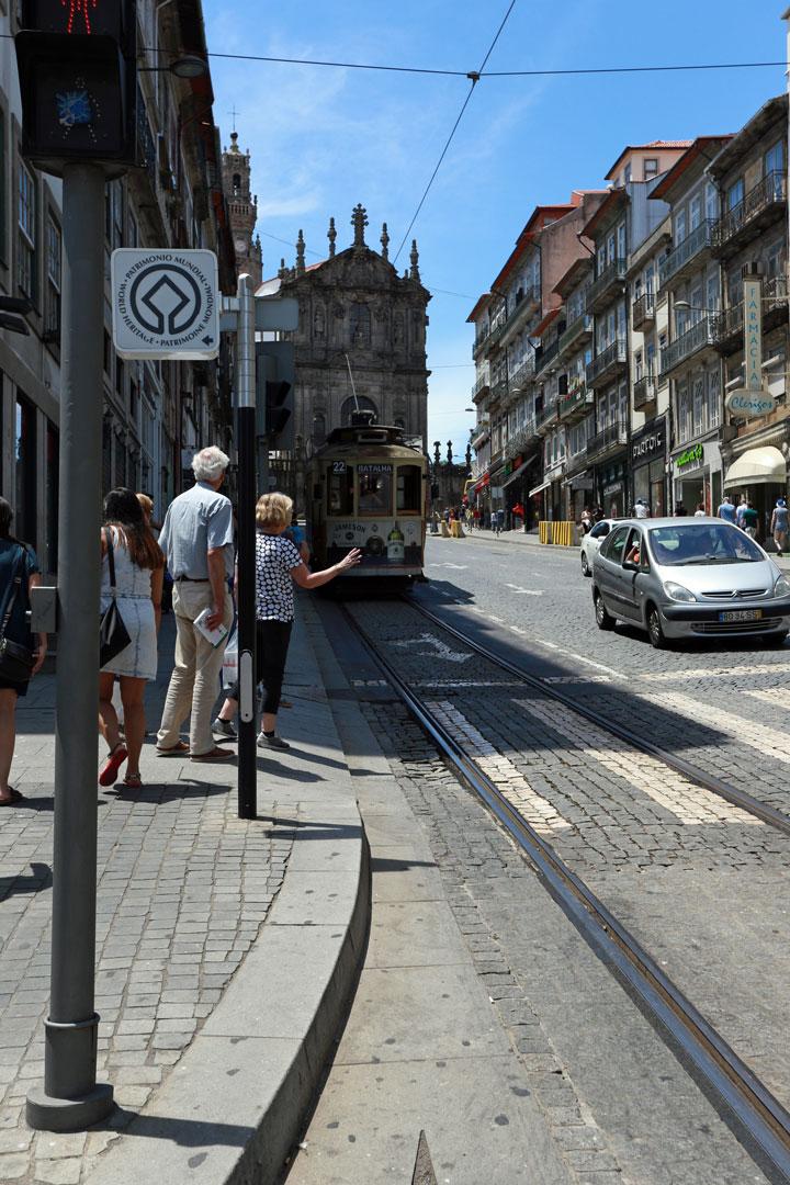 Strassenbahn Porto Portugal
