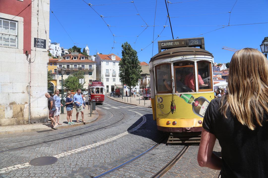 Strassenszene Lissabon Portugal