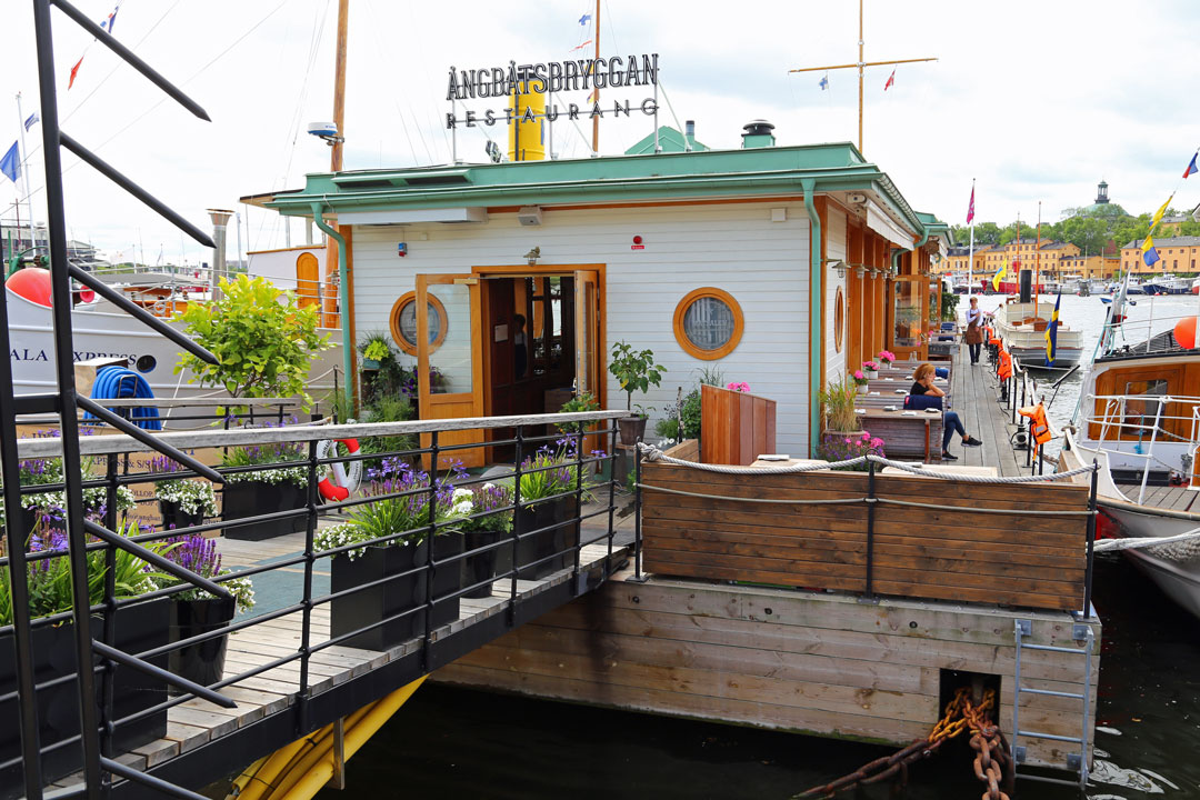 Angbatsbryggan Restaurant Stockholm Schweden