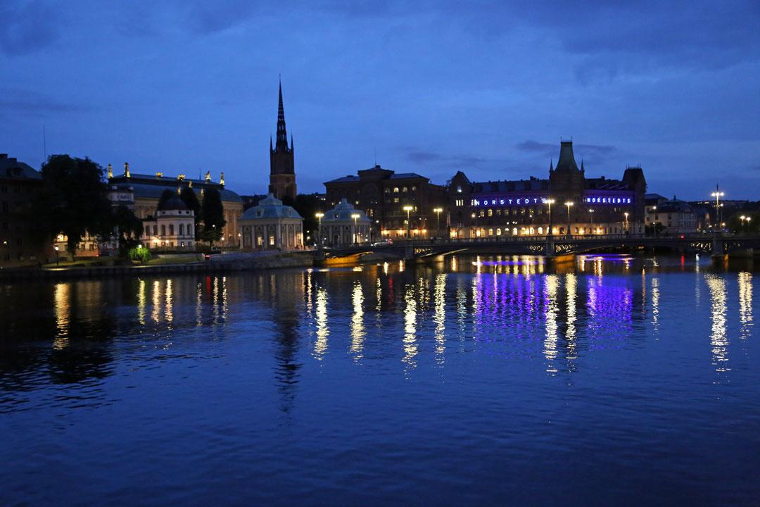 Stockholm bei Nacht Schweden