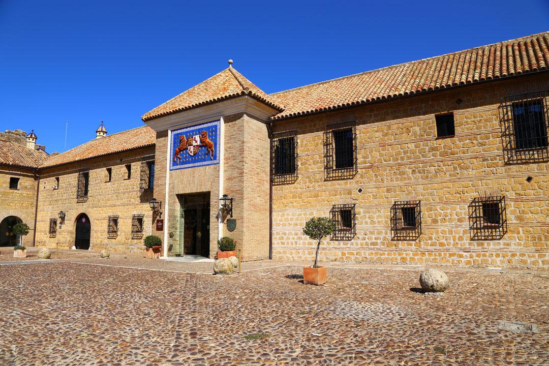 Parador Carmona Eingangsfront Andalusien Spanien