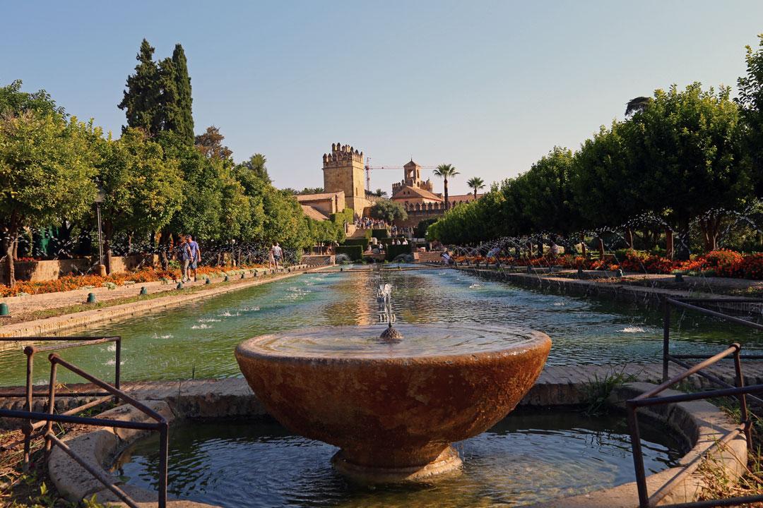 Alcazar Gartenanlage Cordoba Andalusien Spanien