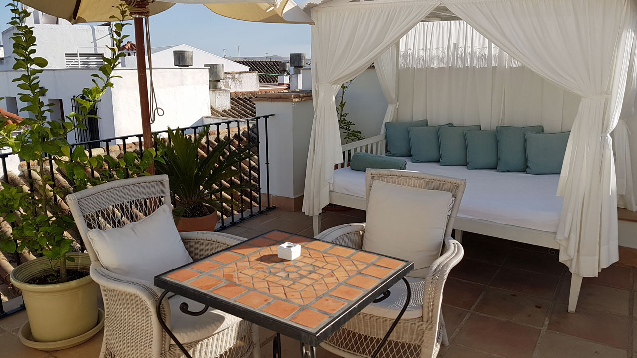 Hotel Balcon Cordoba Terrase Andalusien Spanien