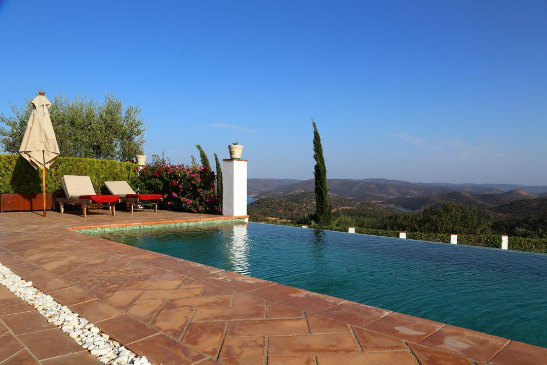 Casa Vesta Infinity Pool Zufre Andalusien Spanien