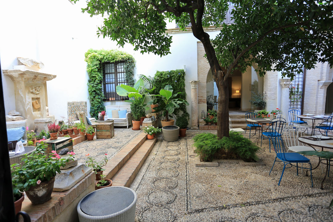 Hotel Balcon Cordoba Innenhof Andalusien Spanien