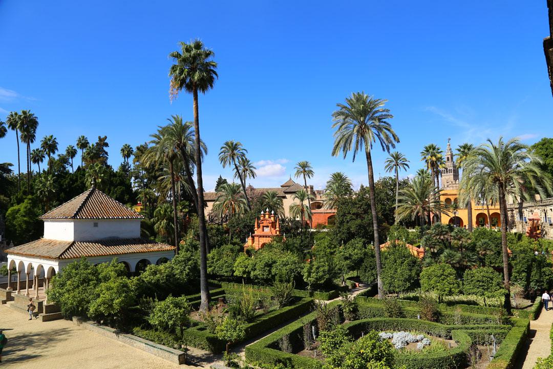 Alcazar Sevilla Gartenanlage Andalusien Spanien