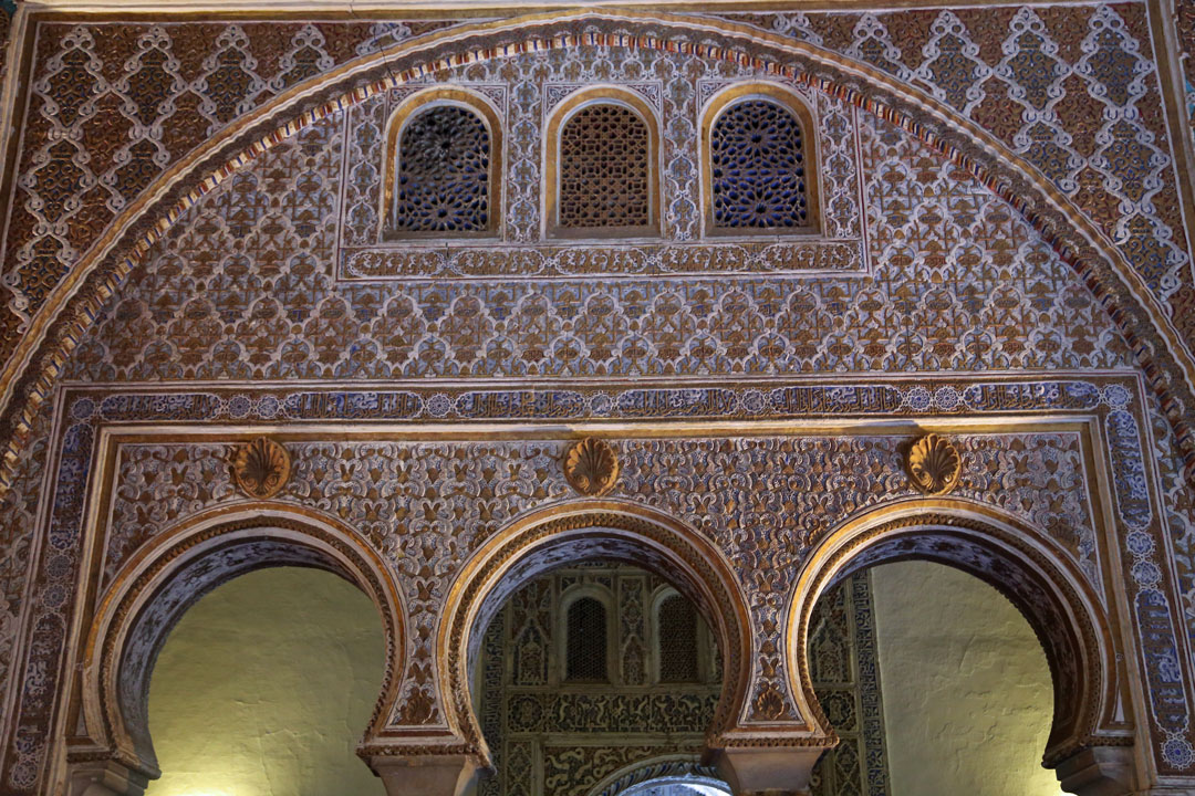 Alcazar Sevilla Maurische Arbeiten Andalusien Spanien