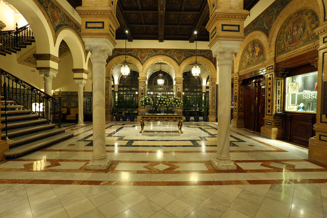 Hotel Alfonso XIII Eingangshalle Sevilla Andalusien-Spanien