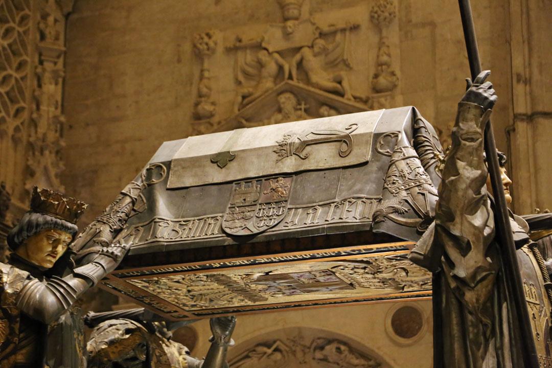 Kathedrale Sevilla Grab Christoph Kolumbus Andalusien Spanien
