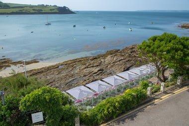 Beach Club Tresanton Hotel St Mawes Cornwall