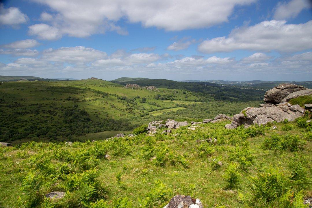 Die Weite des Dartmoor National Parks