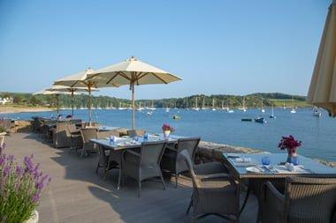 Terrasse Idle Rocks Restaurant St. Mawes Cornwall