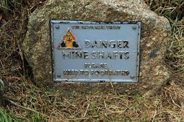 Mine Shaft Wanderung Cornwall
